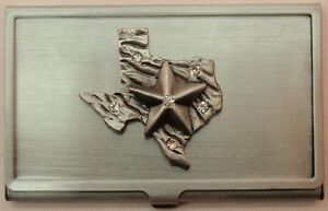 Home Desk Accessories Business Cardholders Texas Pewter Business Car