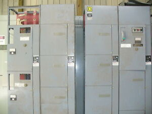 Sq D Model 6 Motor Control Center 5 Vertical Sections W Extra Buckets Parts