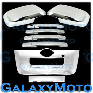 Triple Chrome Mirror 4 Door Handle full Tailgate Cover For 13 16 Nissan Frontier