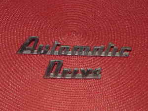 1951 1952 1953 Studebaker Nos Emblem Automatic Drive 1 Each Word Commander