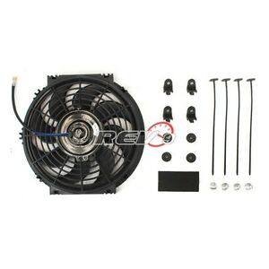 2 X Black 12 Inch Electric Radiator Slim Fan S Blade Set Cooling Universal