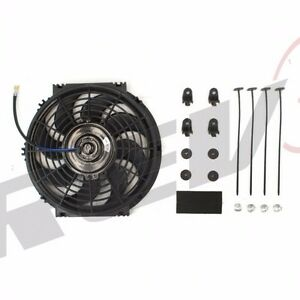 14 Inch Radiator Electric Push puller Thin Slim Cooling Fan 1500 Cfm Universal