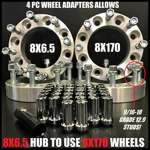8x6 5 To 8x170 Wheel Adapters 9 16 18 Lugs Put Ford Wheels On Dodge 1 5 Inch