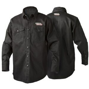 Lincoln K3113 Black Flame Retardent Welding Shirt Size X large K3113 xl