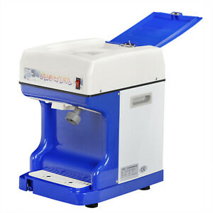Electric Ice Shaver Machine Tabletop Shaved Ice Crusher Snow Cone Maker Party Us