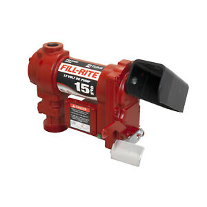 Tuthill fill rite Fr1204h 12 volt Dc 1 4 Hp 15 Gpm Fuel Transfer Pump New