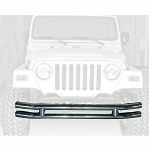 Rugged Ridge 11560 02 Steel 3 Tube Front Bumper For Jeep Cj7 Scrambler Tj Yj