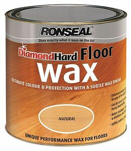 Ronseal Diamond Hard Wood Floor Wax Natural Colour 2 5 Litre