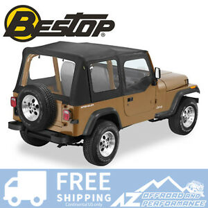 Bestop Replace A Top Clear Half Door Skins Black Crush For 1987 Jeep Wrangler Yj