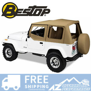 Bestop Replace A Top Clear Half Door Skins Spice For 88 95 Jeep Wrangler Yj