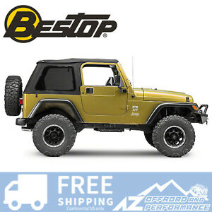 Bestop Trektop Nx Black Twill Tint Windows No Doors For 97 06 Jeep Wrangler Tj