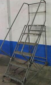 Cotterman 6 step Rolling Steel Powder Coated Ladder 60 320