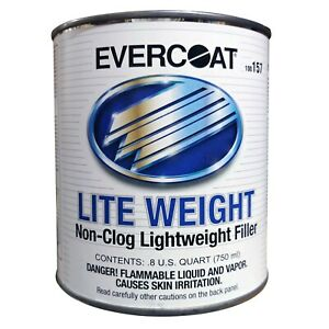 0 8 Qt Evercoat Lite Weight Non Clog Lightweight Auto Body Filler Hardener 157