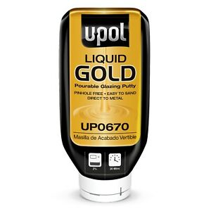 U Pol Liquid Gold Pourable Auto Body Glazing Putty Up0670 Car Dent Repair