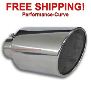 Diesel Stainless Steel Bolt On Exhaust Tip 4 Inlet 8 Outlet 15 Long