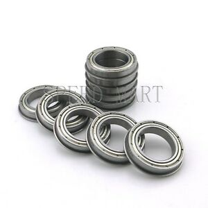10 X F6802zz Metal Double Shielded Flanged Ball Bearings 15mm 24mm 5mm