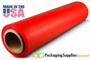 8 Rolls Hand Stretch Plastic Wrap Film Light Red 18 1500 80 Ga ostk