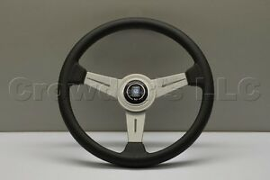 Nardi Classic Steering Wheel 340mm Black Perforated Leather With White Spokes