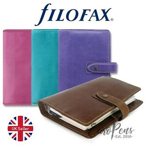 Filofax Malden Personal Size Leather Organiser Choose Colour Uk Supplied