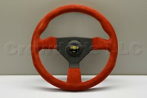 Nardi Personal Grinta Steering Wheel 330mm Red Suede With Black Spokes