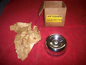 Vintage 1950 S 60 S Nos Chrome H C 2 Barrel Air Cleaner Hot Rod Rat Rod Gasser