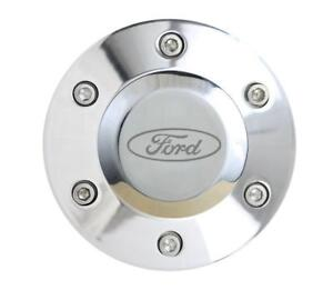 6 Hole Steering Wheel Horn Button Center Kit Polished With Ford Logo