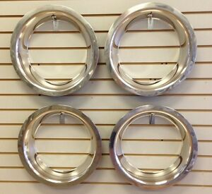 15 3 Deep Stainless Steel Beauty Trim Ring Set Of 4 Fits 15x8 Rally Wheels