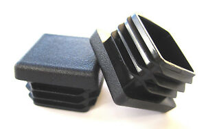 100 1 Square Tubing Plastic Plugs End Cap Pipe Post Tube Insert Glide Snap In