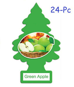 Little Trees Car Air Freshener Provides Lasting Scent For Auto home green Apple