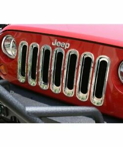 Rugged Ridge 11306 20 Chrome Grille Inserts For Jeep Wrangler