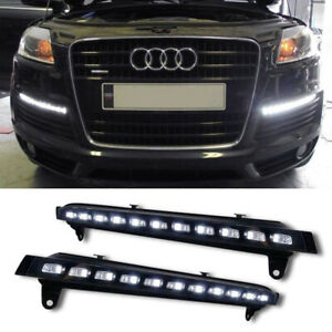 Direct Fit Switchback Led Daytime Running Lights W turn Signal For 07 09 Audi Q7