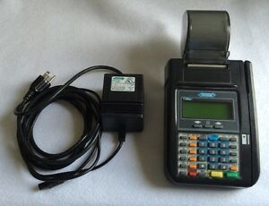 Hypercom T7plus Credit Card Machine W Power Adapter Tested Works