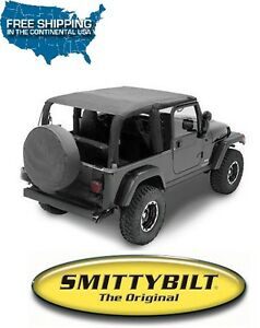 Smittybilt Extended Top Black Diamond For 2004 2006 Jeep Wrangler Lj Unlimited