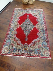 Antique Kashan Rug Good Condition Except Edges As Shown 4 X6 Local Pickup Ok