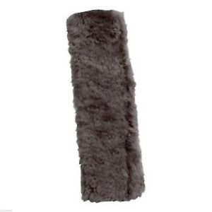 Lot 6 Gray Patagonian Sheepskin Fleece Seat Belt Cover Shoulder Pad Strap Soft
