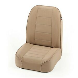Rugged Ridge 13400 04 Tan No recline Low Back Front Seat For Jeep Cj Models