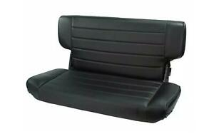 Rugged Ridge 13462 15 Blk Denim Fold Tumble Rear Seat For Jeep Cj Wrangler