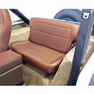 Rugged Ridge 13462 04 Tan Fold Tumble Rear Seat For 76 95 Jeep Cj Wrangler