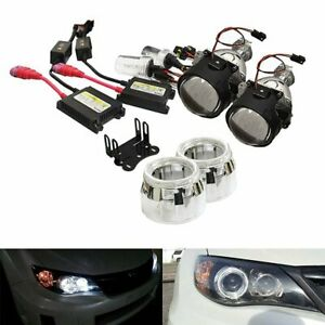 2 5 Mini Bi xenon Retrofit Projector Lens W h1 Hid Conversion Kit Shroud Combo