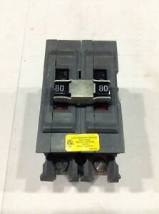 A280ni Wadsworth Circuit Breaker 2 Pole 80 Amp 120 240v new