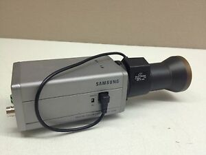 Samsung Scc 130b Color Cctv Camera W 5 100mm Extra Long Range Auto iris Lens