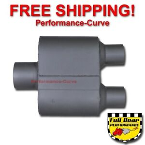 Single Chamber Performance Race Muffler Full Boar 3 In Dual 2 25 Out Fb429