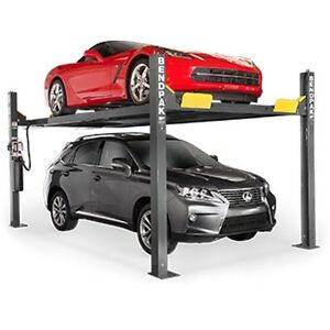 Bendpak 9 000lb Standard Width 4 Post 2 Car High Lift Hd 9xw Auto Body Repair