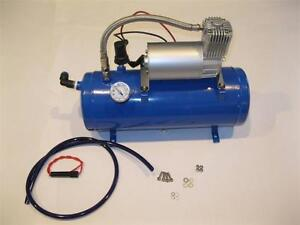 120psi 12v Air Compressor 1 5 Gallon Tank For Air Horns Bag System Train Truck