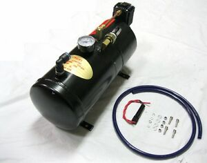 150psi Dc 12v Pickup Truck On Board Air Horn Air Compressor With 3 Liter Tank