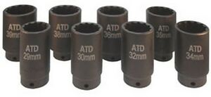 Atd Tools 8628 1 2 Dr 12 point Fwd Axle Nut Socket Set 8pc