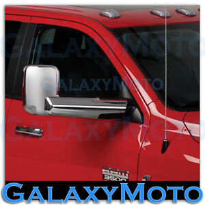 Chrome Plated Towing Mirror Arm Cover For 10 18 Dodge Ram 2500 3500 Hd