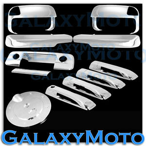 10 19 Dodge Ram Chrome Towing Mirror arm 4 Door Handle tailgate camera gas Cover