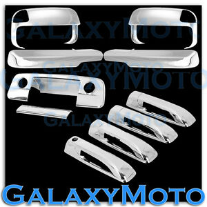 10 16 Ram 2500 3500 hd Chrome Towing Mirror arm 4 Door Handle tailgate Cm Cover