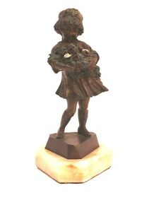 Magnificent Art Deco French Bronze Statue Signed Frances Eelic Must See